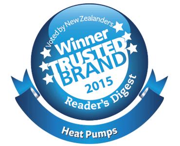 Logo of Winner Trusted Brand 2015 - Heat Pumps