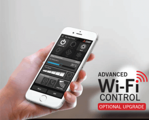 Wi-Fi Control options air conditioning heater