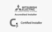 Mitsubishi Electric Certified Installer of Heat Pump and Air Con